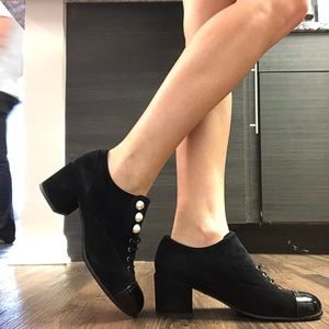 CHANEL PEARL BOOTIES